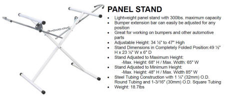 557012 Panel Stand 300lbs. maximum capacity