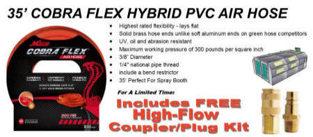 Milton MA3538OR COBRA FLEX HYBRID PVC AIR HOSE