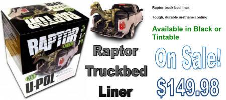 U-Pol Raptor Truckbed Liner Black & Tintable
