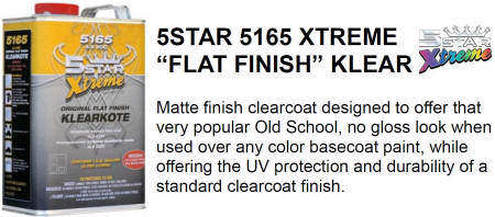 Five Star 5165 Flat Finish Clear