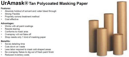 UrAmask Tan Polycoated Masking Paper