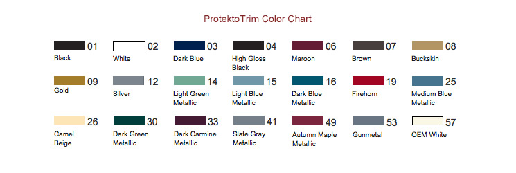 ProtektoTrim Color Chart